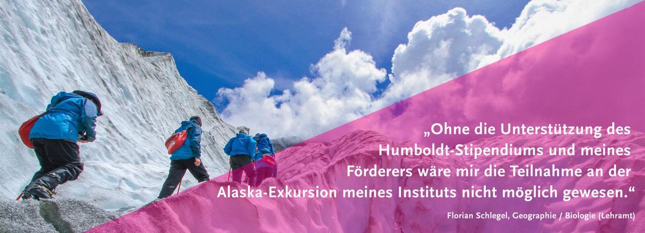 Ohne die Unterstützung des Humboldt-Stipendiums und meines Förderers wäre diese Alaska-Exkursion nicht möglich gewesen.